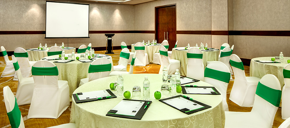 Green and White Themed Seletar Room Cluster Set Up