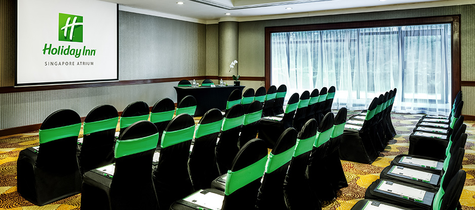Black and Green Theatre Set Up at Kallang Room