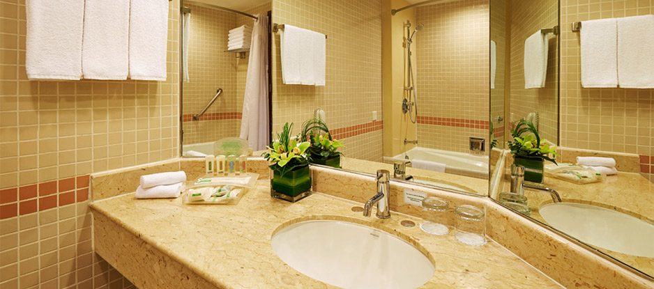 Interior of Deluxe Room Bathroom