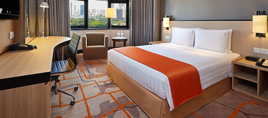 Orange and White Themed Deluxe Room